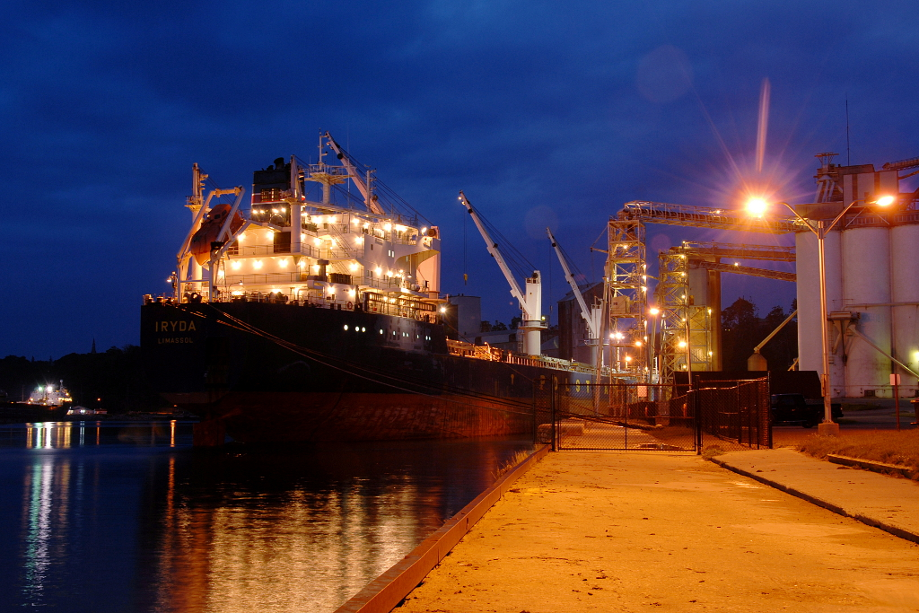 grain ship in Goderich harbour