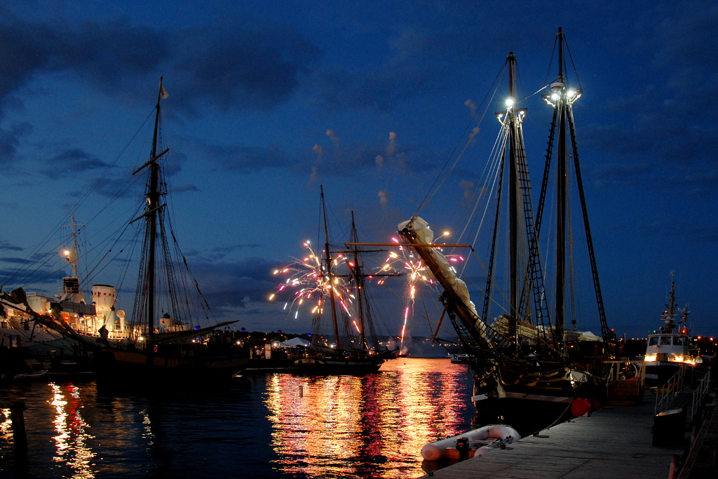 Fireworks during the Tall Ships festival
