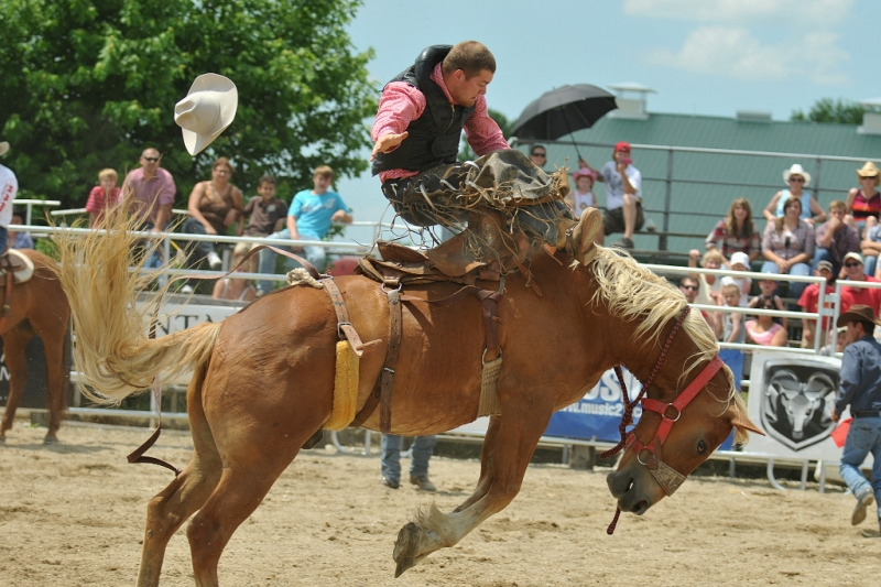 Saddle bronc riding.