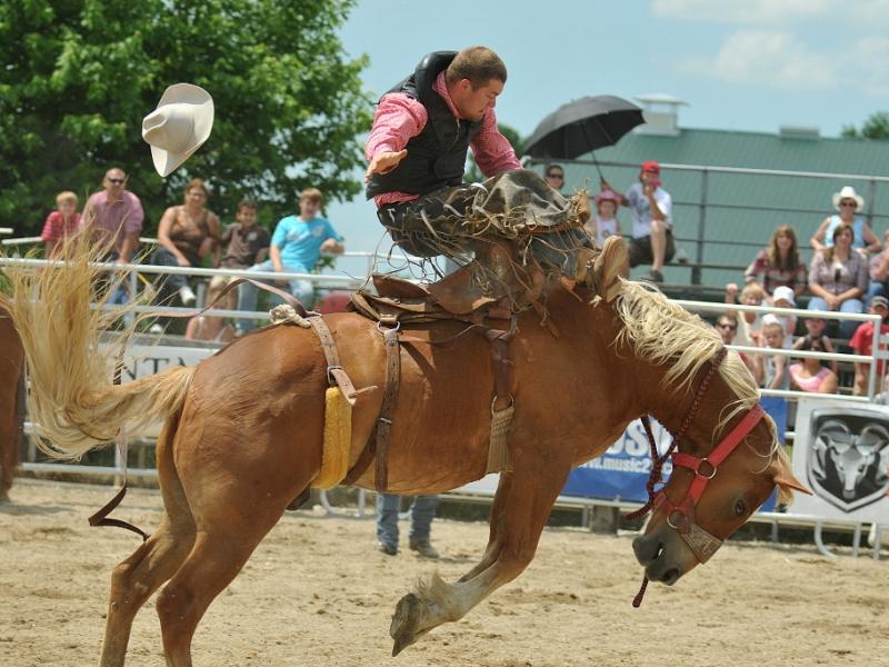 Saddle bronc riding.