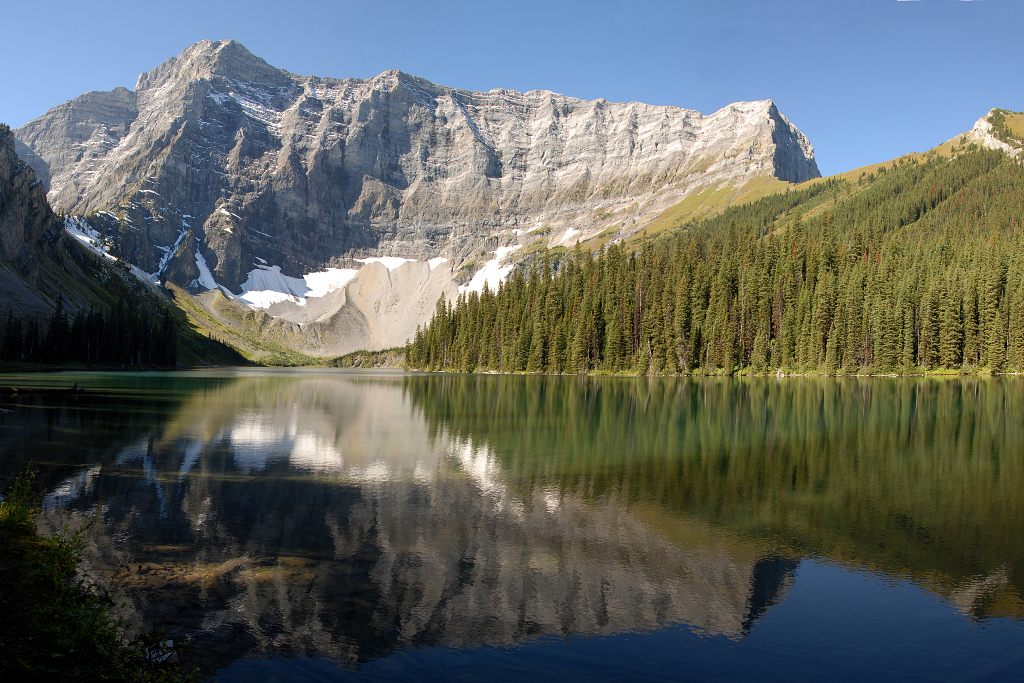 Panorama of Rawson Lake, Kananaskis AB.